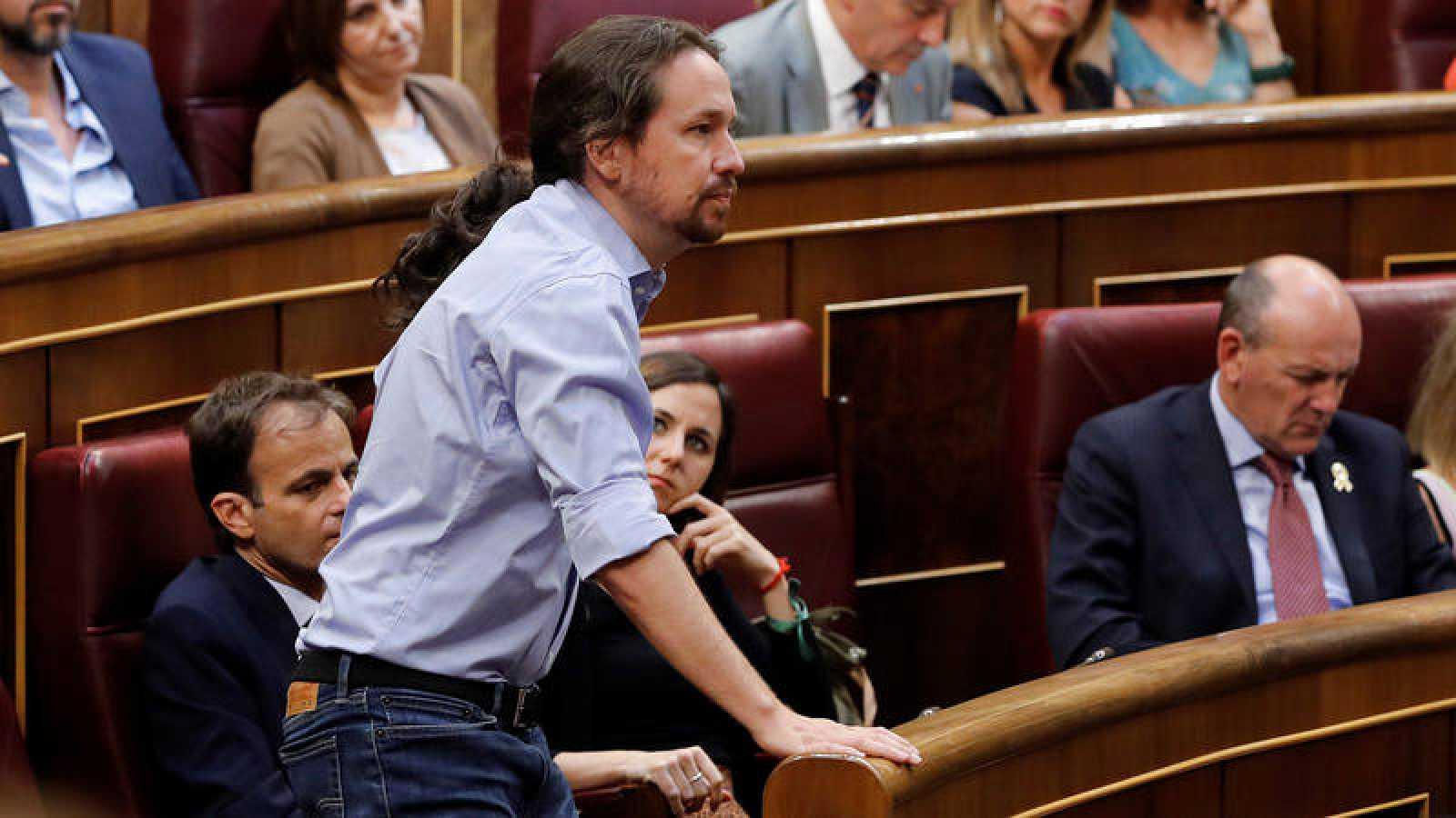 El secretario general de Podemos, PabloIglesias