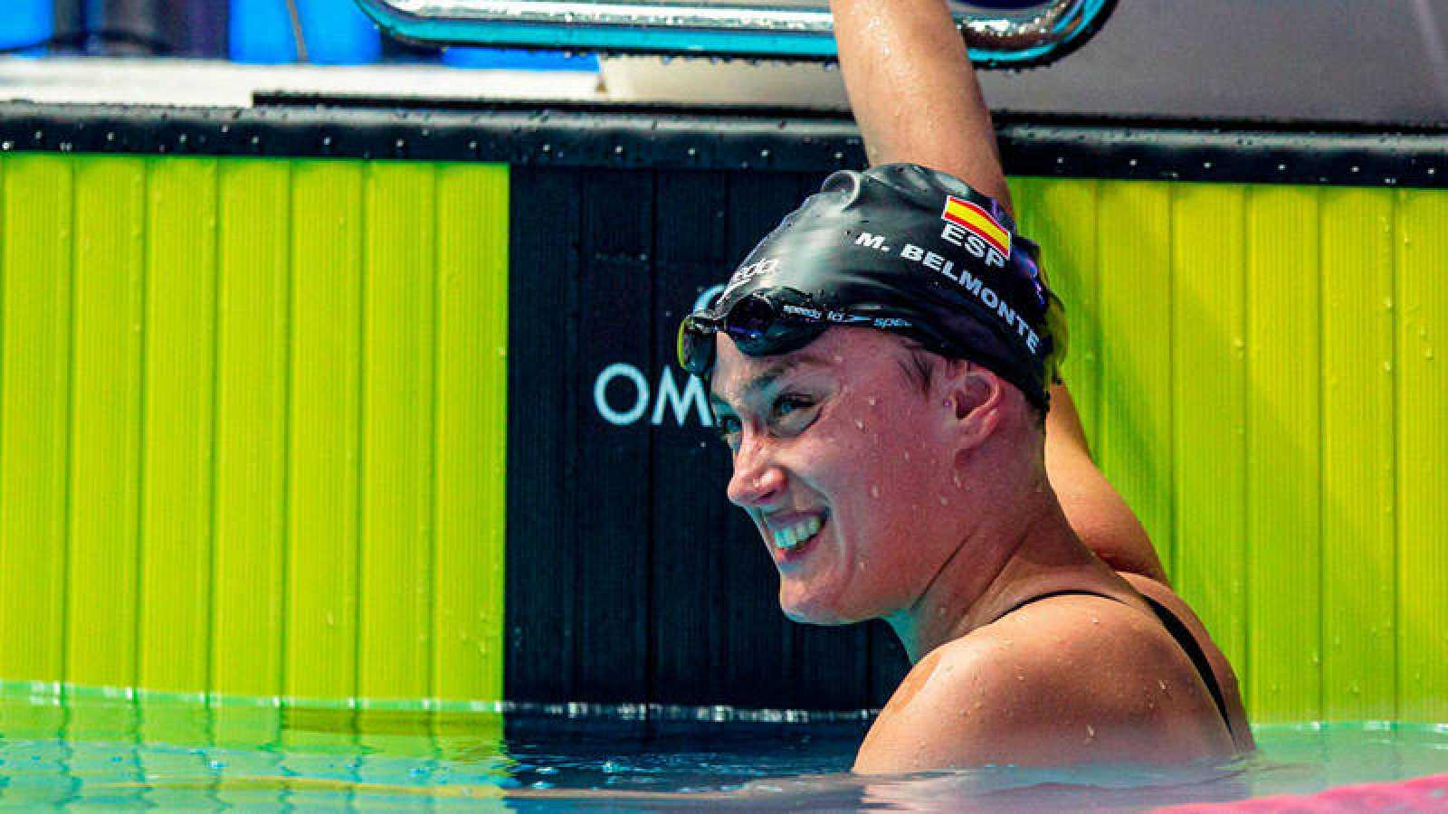 La nadadora española Mireia Belmonte durante el Mundial de Natación de Gwangju 2019.