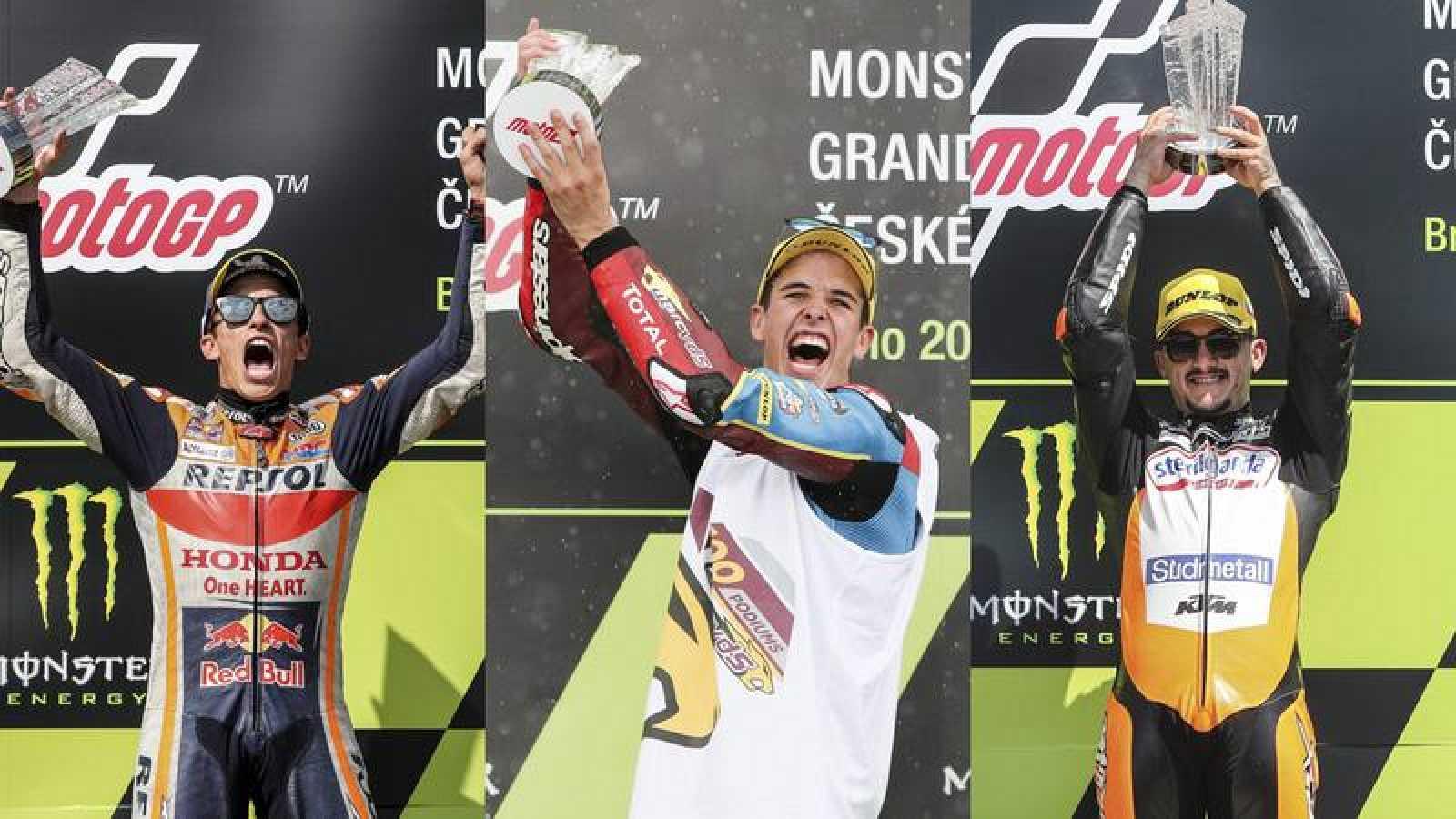 Los artífices del trigésimotercer triplete del motociclismo español