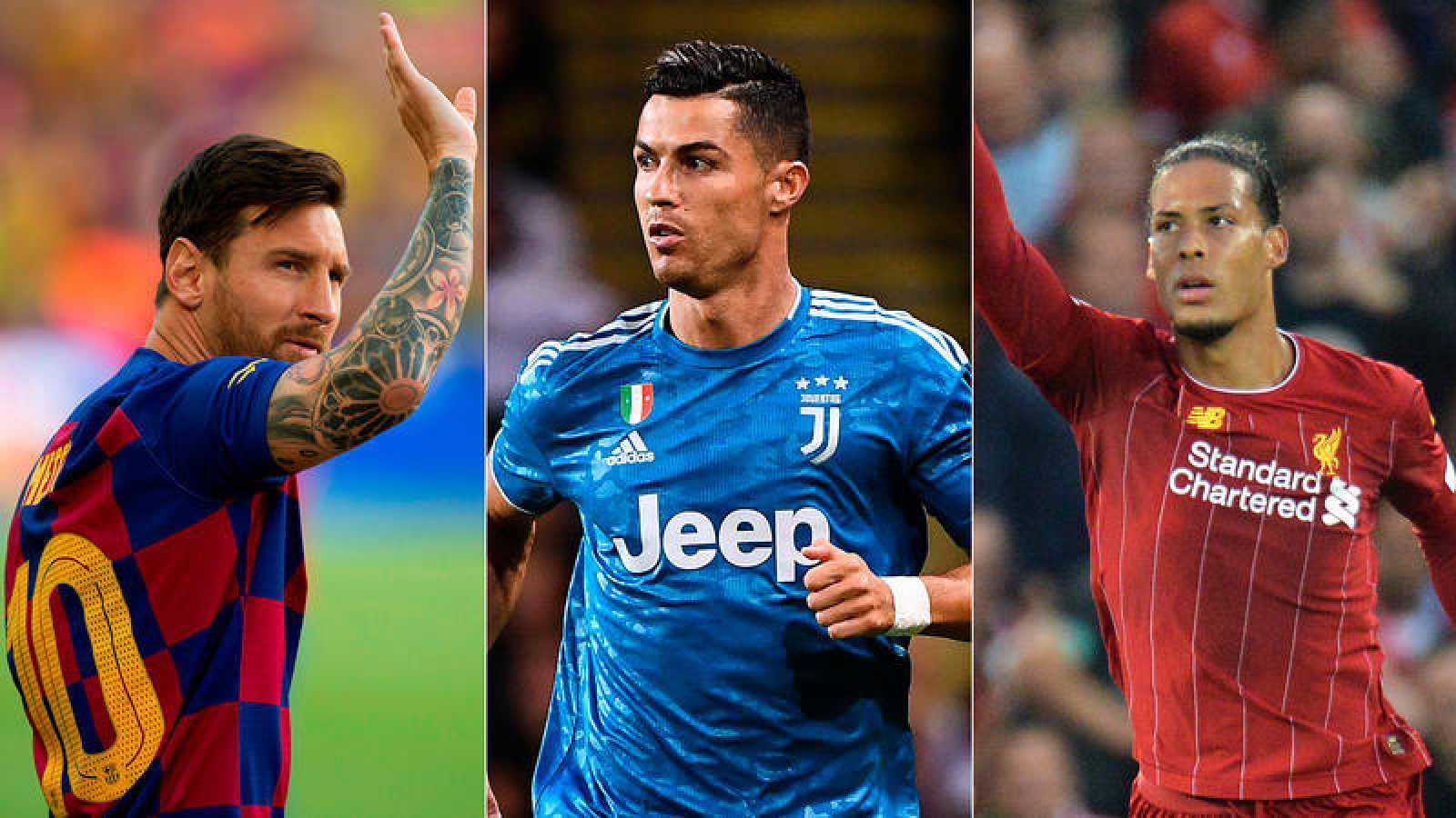 Messi, Cristiano y Van Dijk, candidatos al premio UEFA y también al de la FIFA.