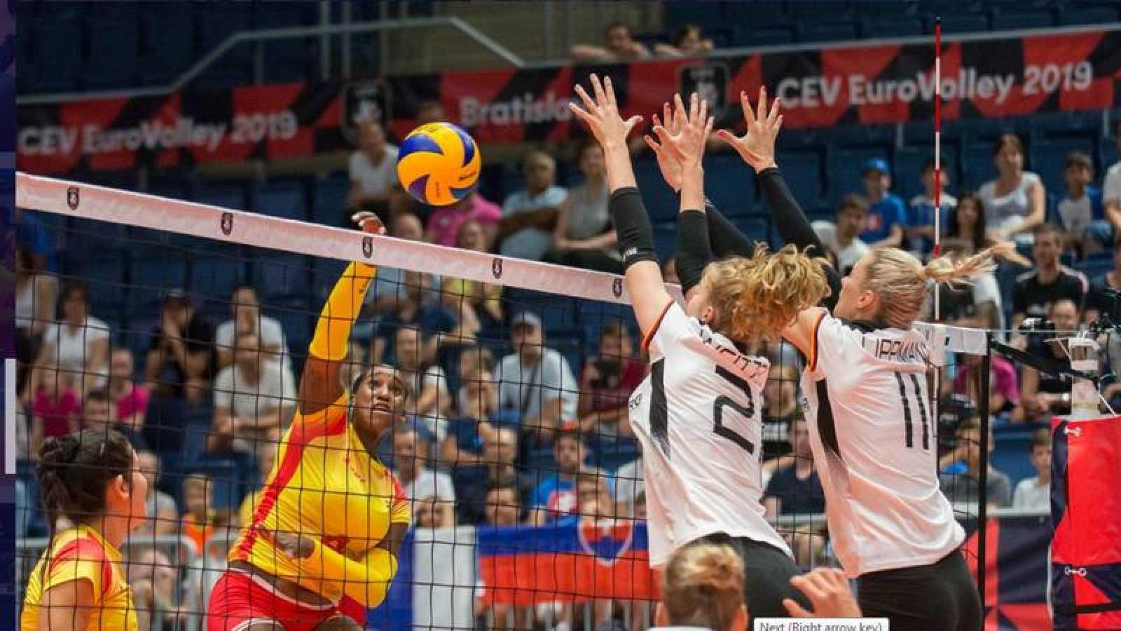 España encaja ante Alemania su segunda derrota en el Europeo de voleibol