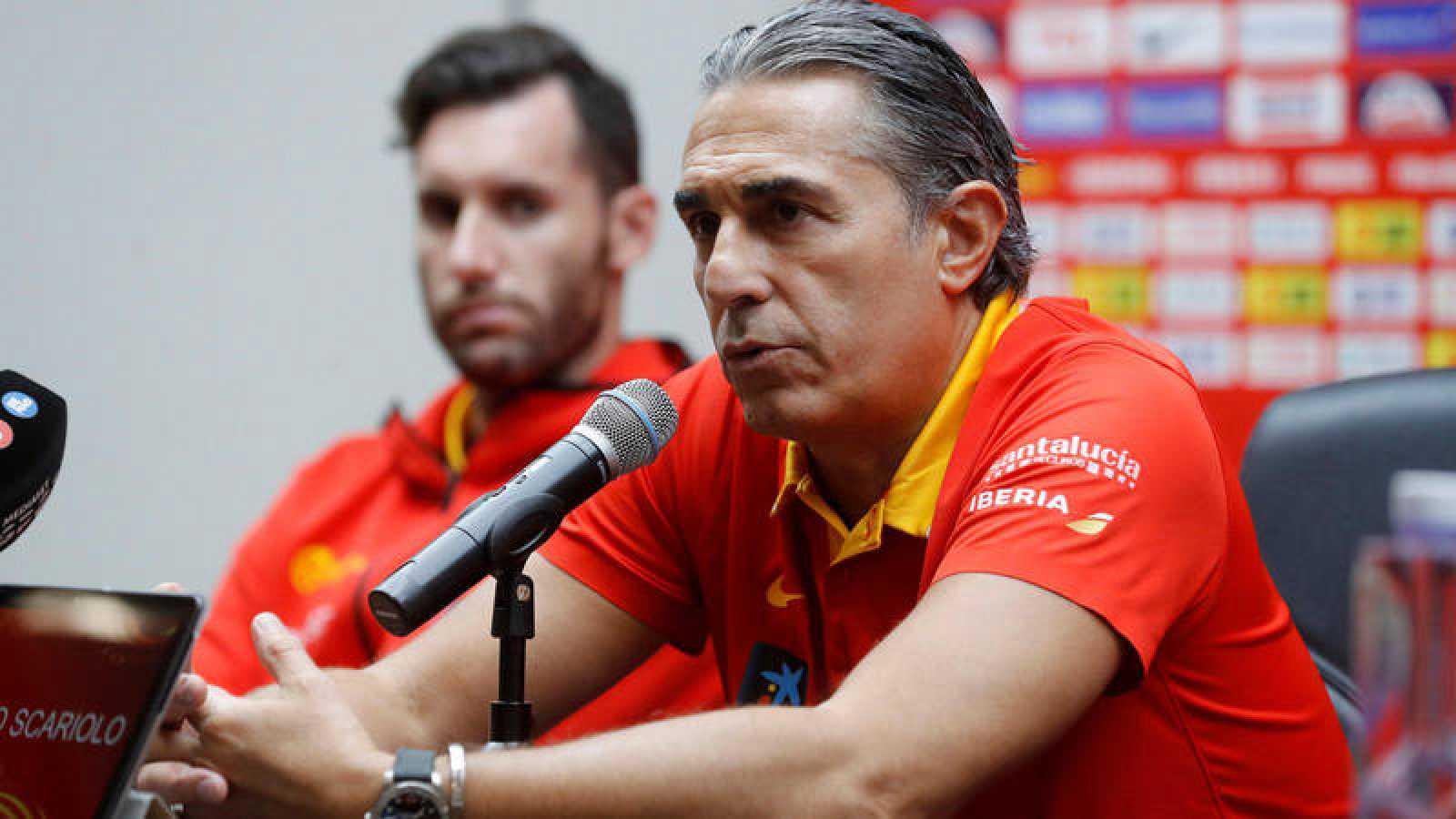 Rueda de prensa de la selección, con Sergio Scariolo al frente.