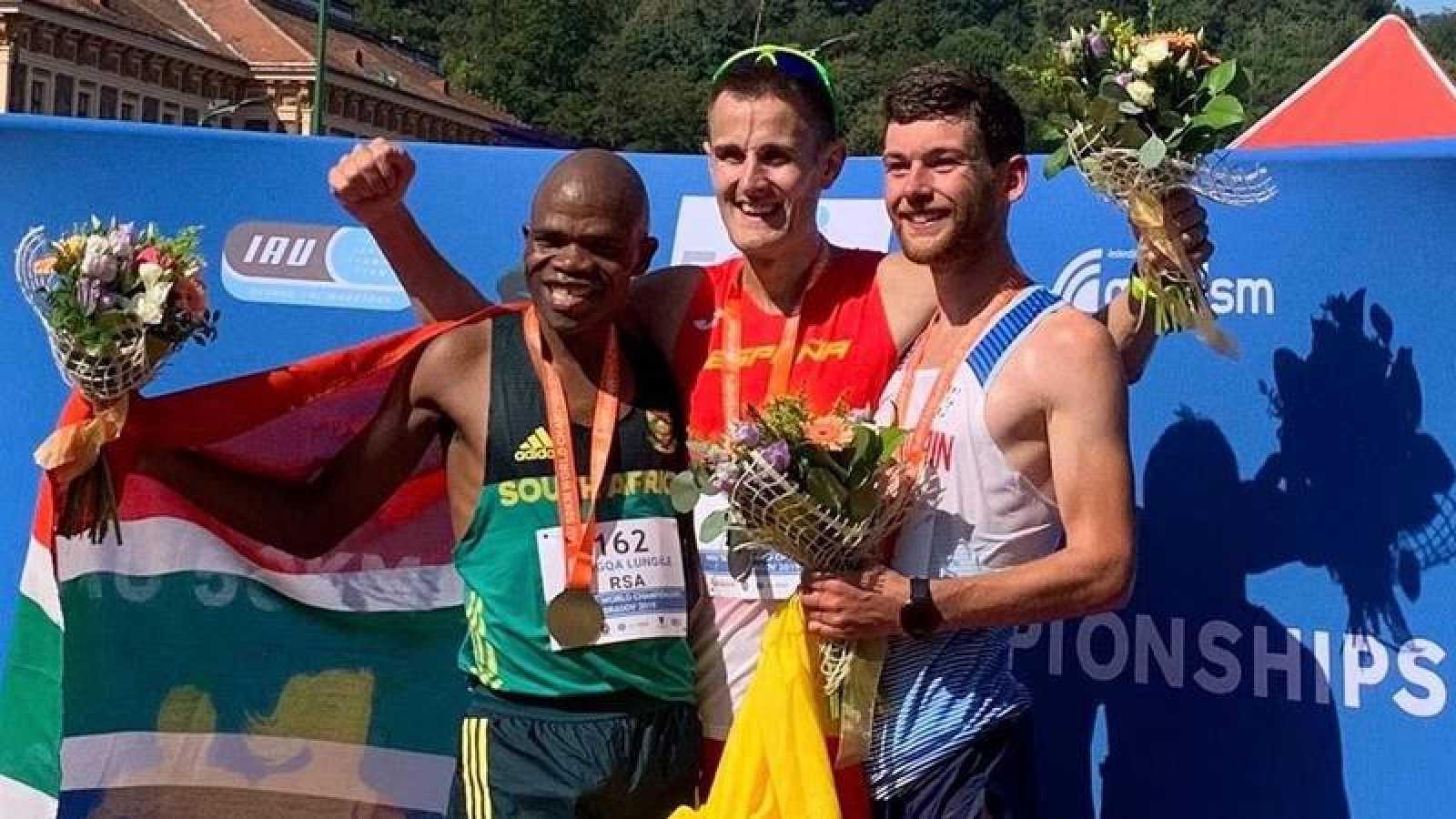 Aritz Arrospide, campeón del mundo de 50 km en ruta