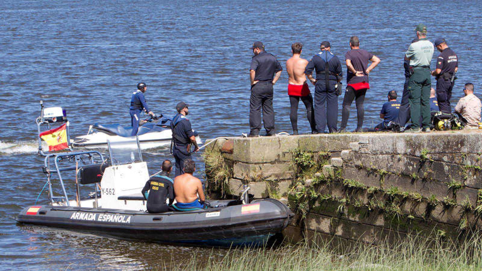 Una imagen del operativo de búsqueda del triatleta portugués.
