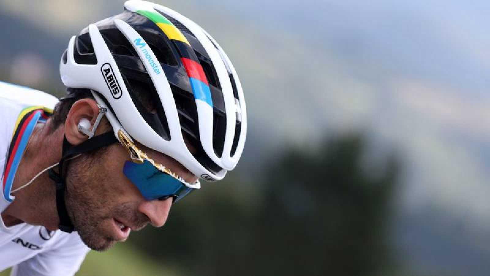 El ciclista murciano, campeón del Mundo del equipo Movistar, Alejandro Valverde