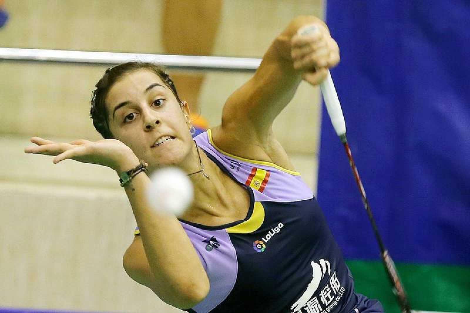 Carolina Marín, en su vuelta a la competición