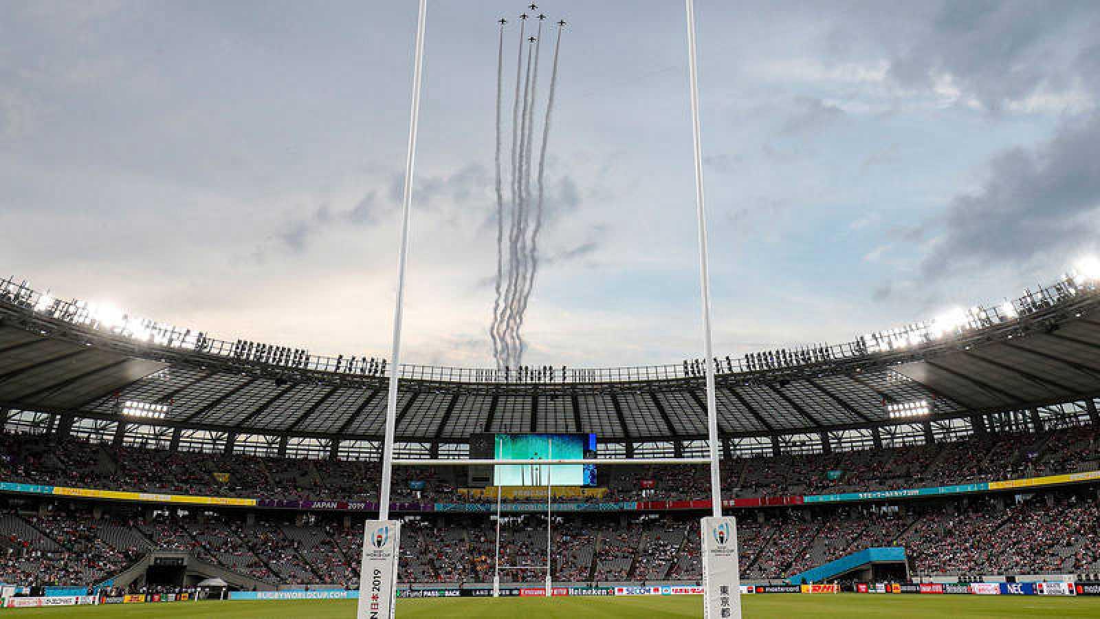 El estadio de Tokio, listo para el Mundial de rugby.