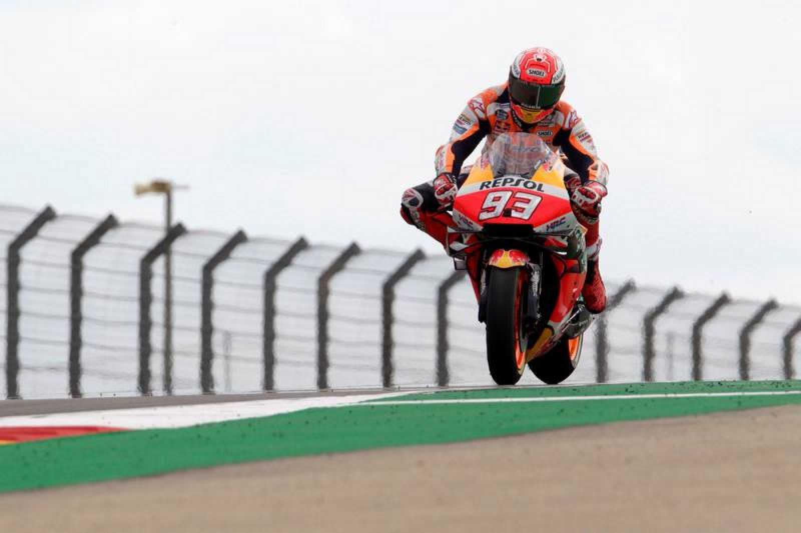 Márquez, en el circuito de Motorland este viernes