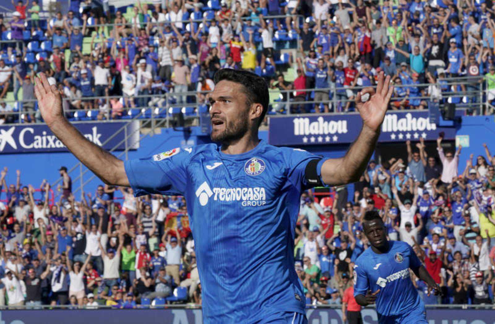 Molina celebra un gol con el Getafe