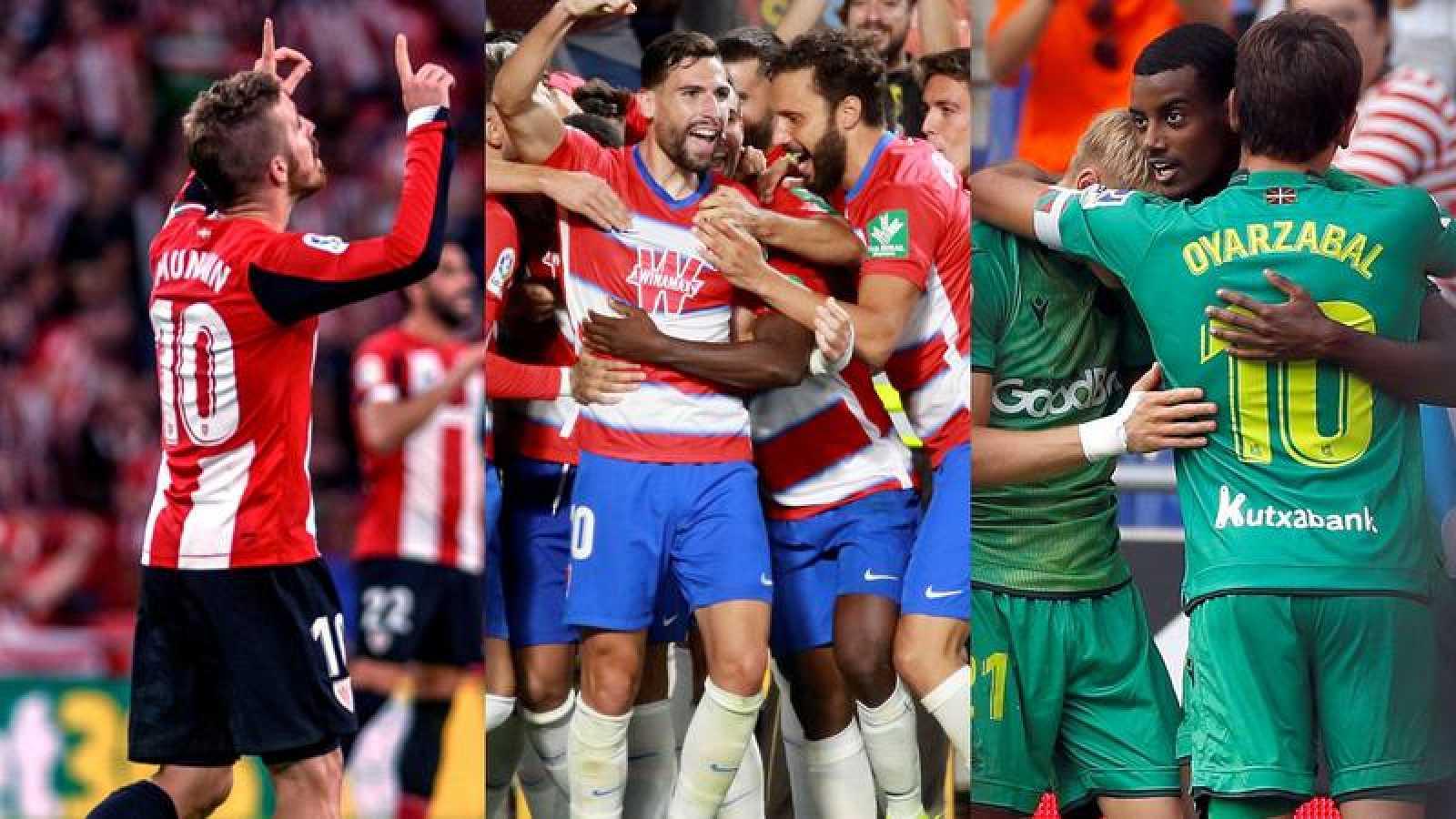 Athletic, Granada y Real Sociedad, los 'outsiders' de este inicio de Liga