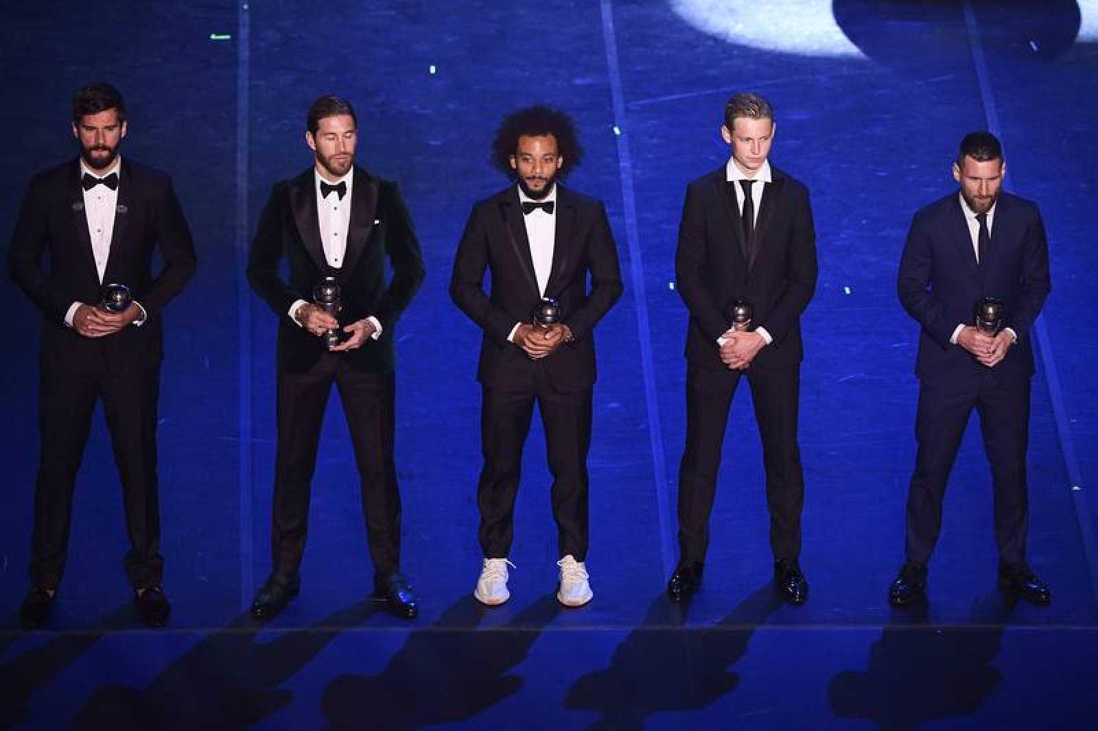 Varios de los integrantes del mejor once, según FIFA