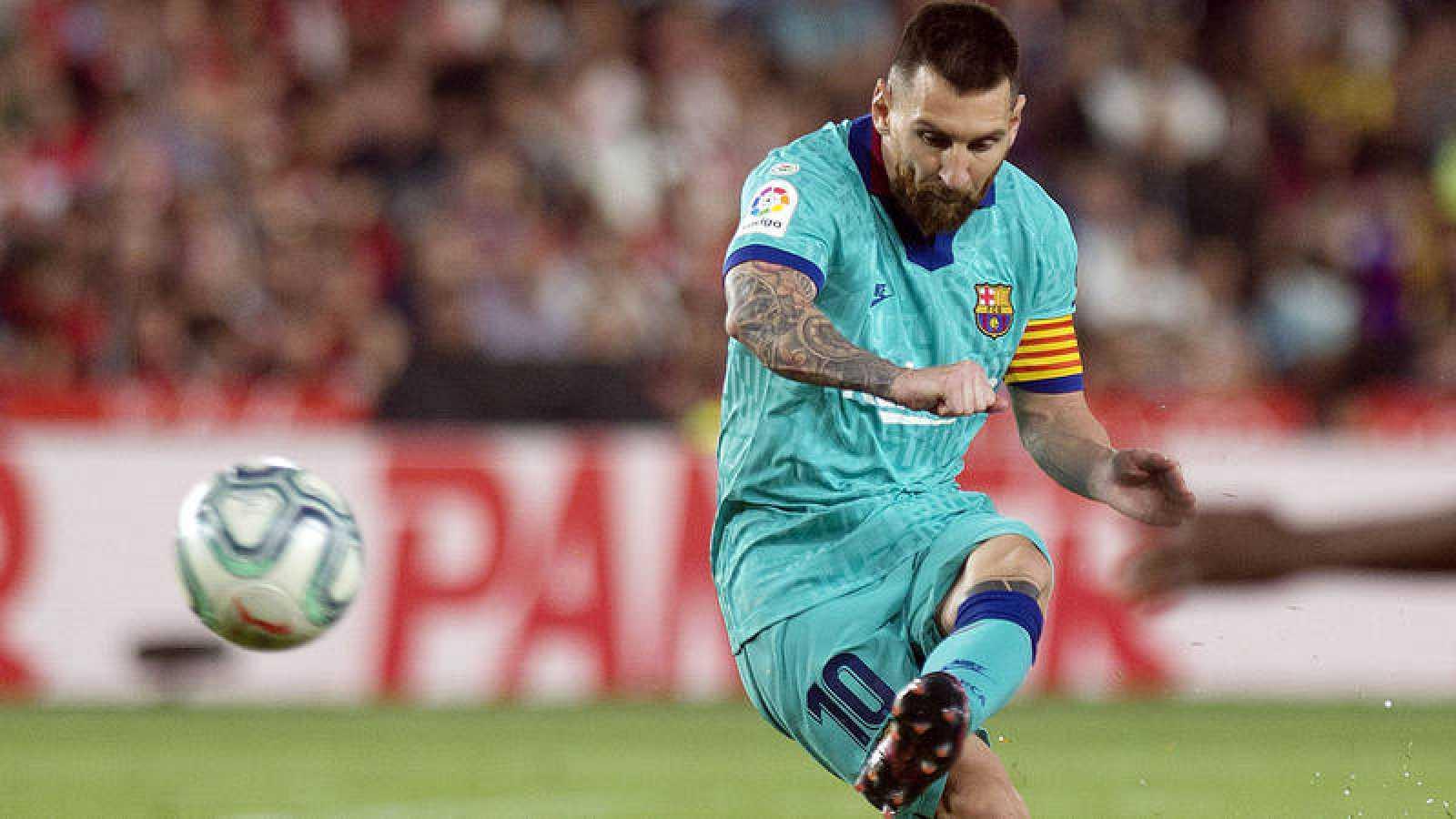 Leo Messi, gran esperanza del Barcelona para retomar el vuelo en Liga.