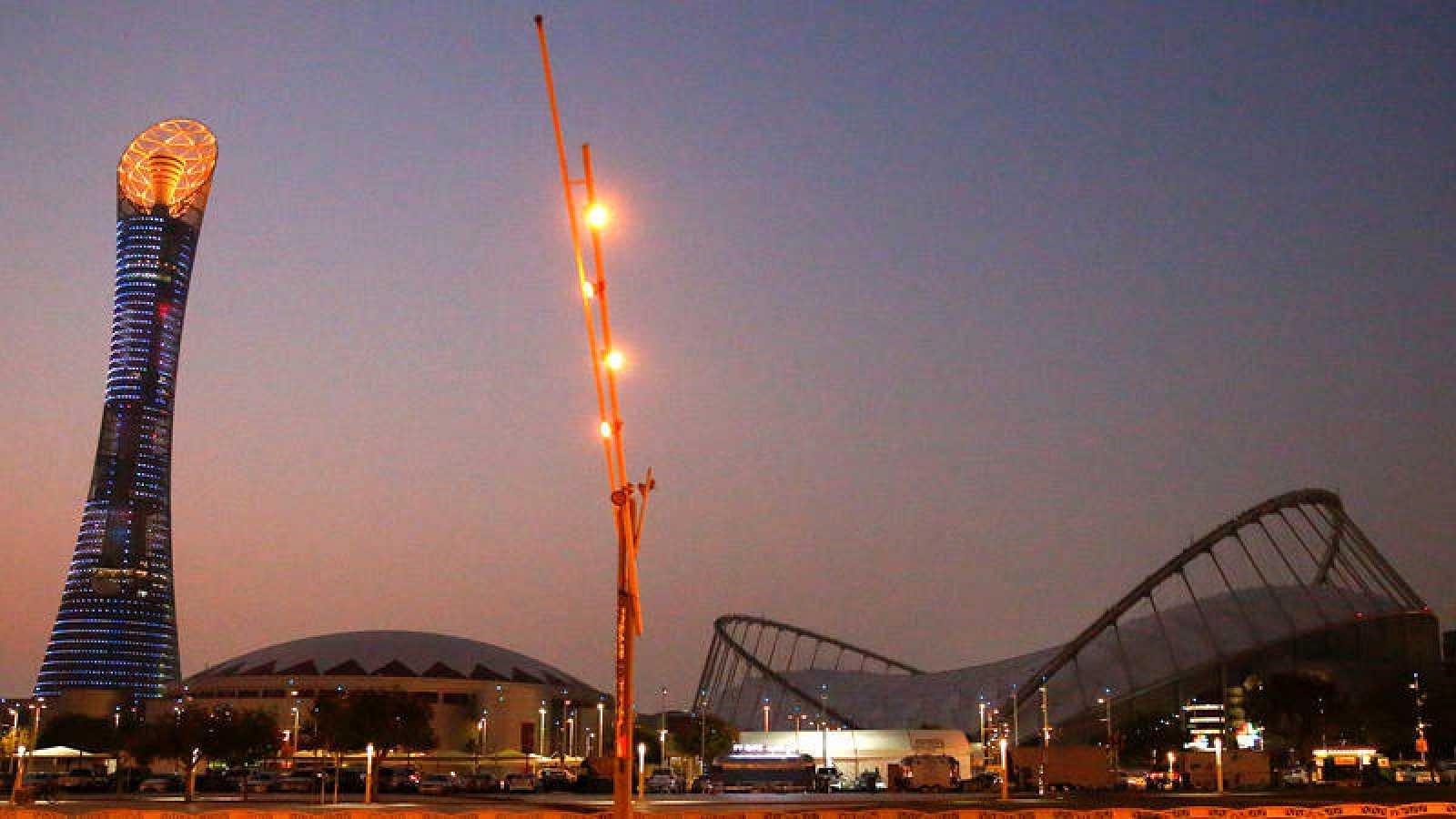 Panorámica del Estadio Internacional Khalifa de Doha.