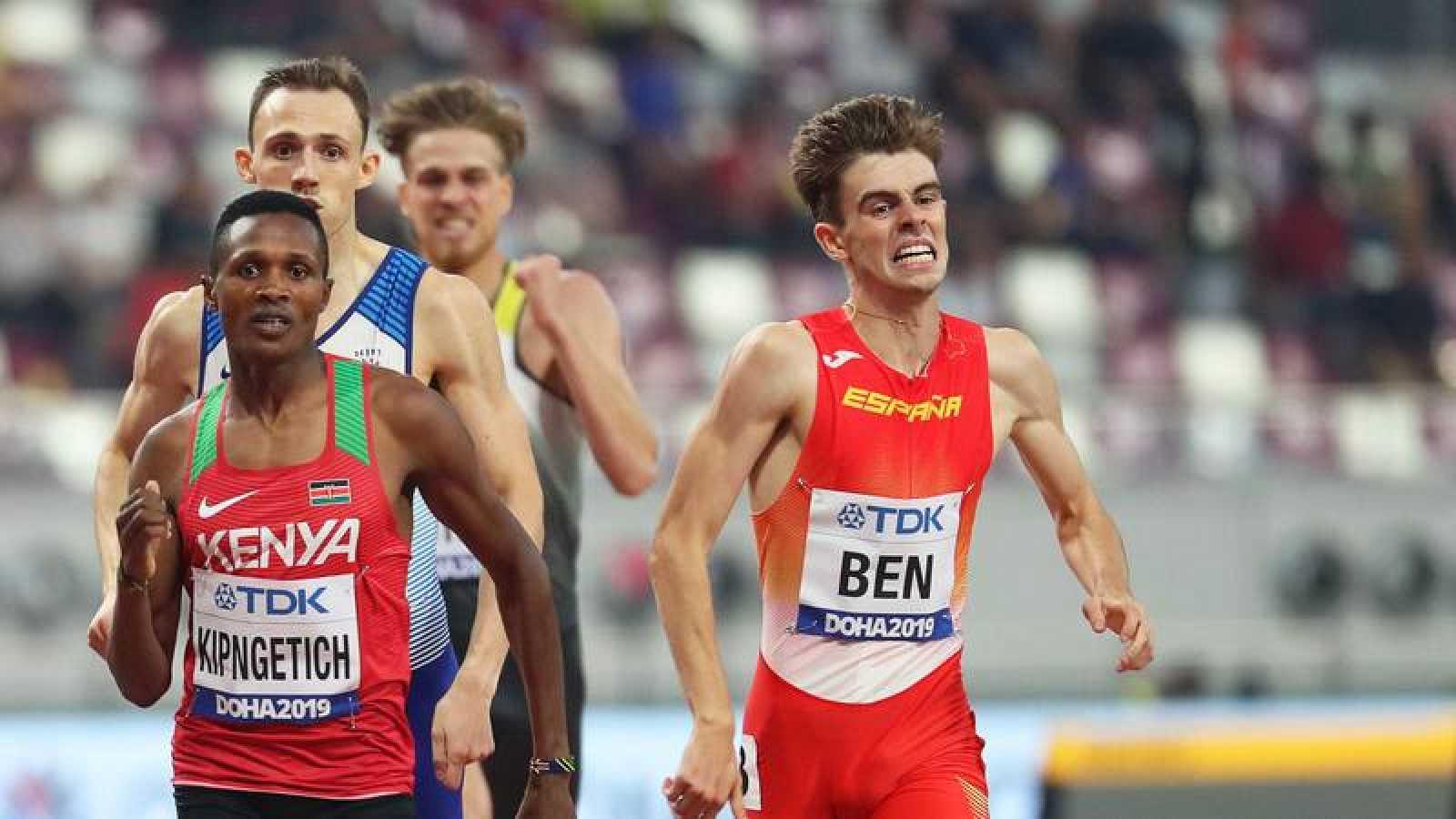 Adrián Ben y Álvaro de Arriba, clasificados para las semifinales de 800m