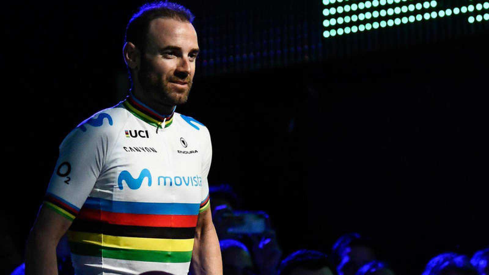 Valverde con el maillot arcoiris de campeón del mundo