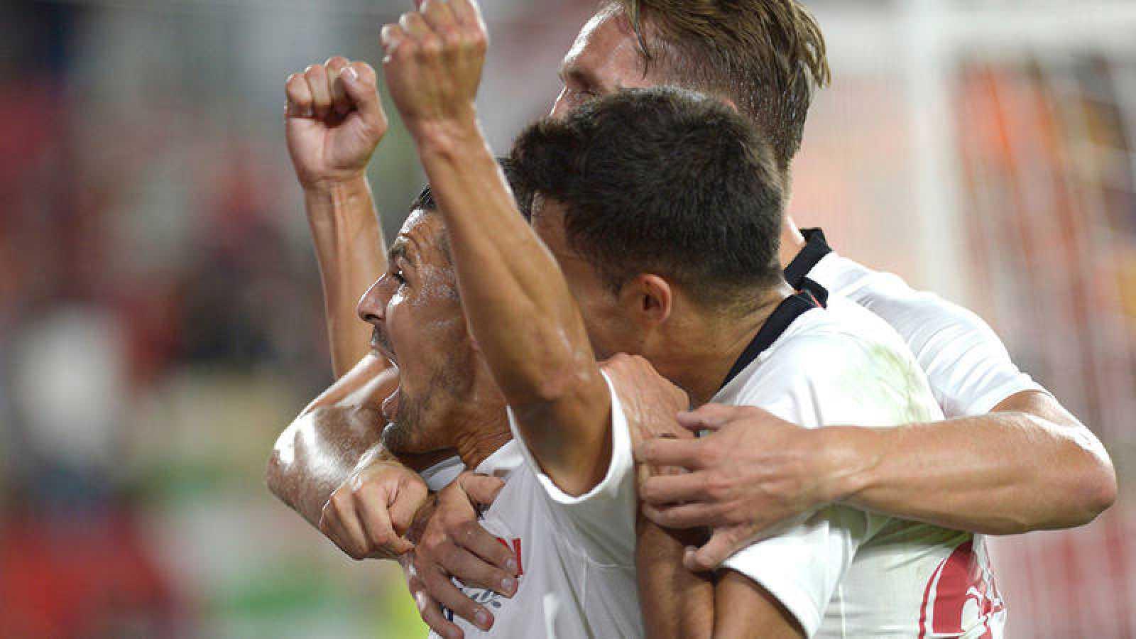 Nolito celebra el gol del empate