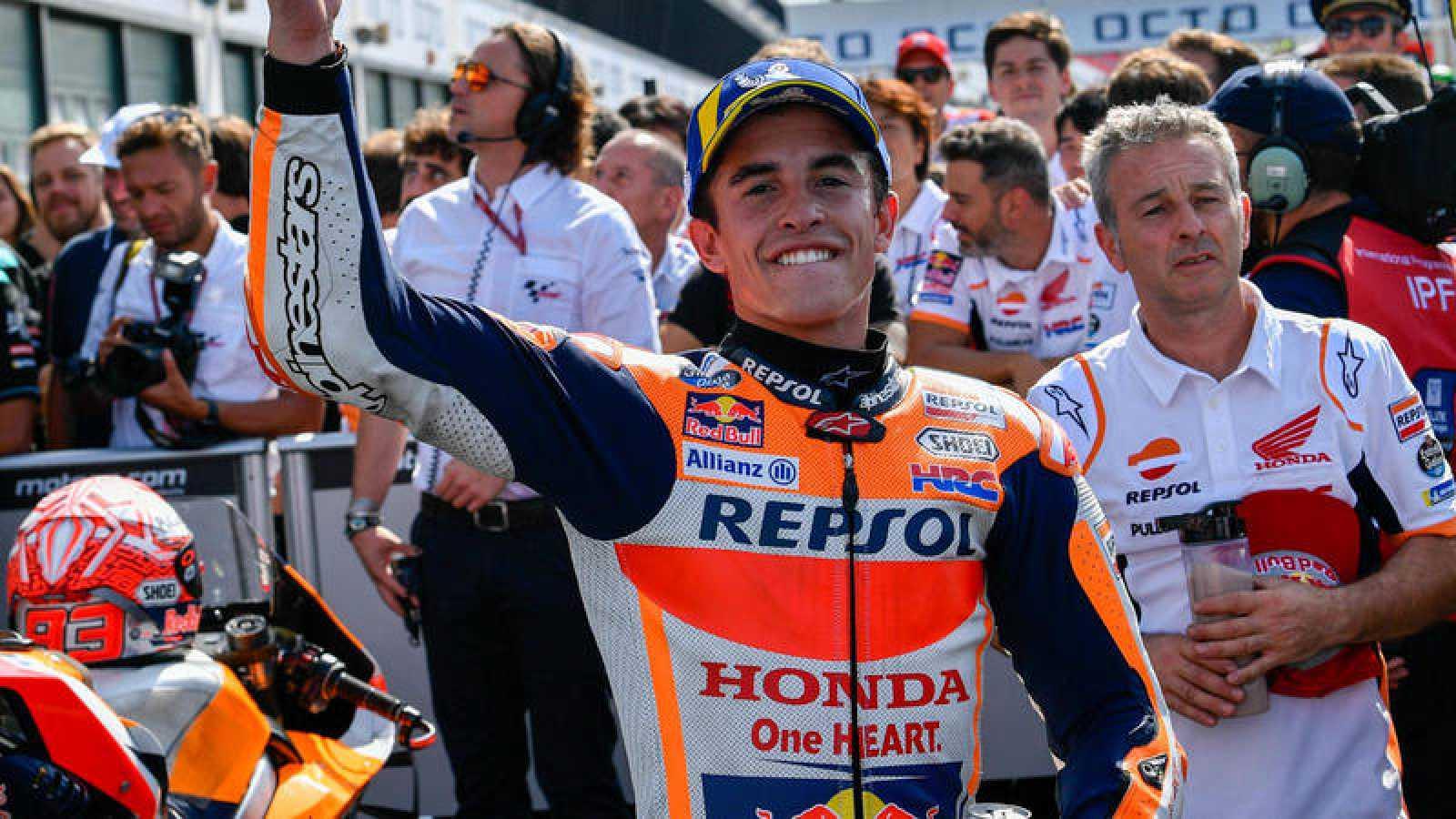 El piloto españo Marc Márquez, campeón del mundo de MotoGP.