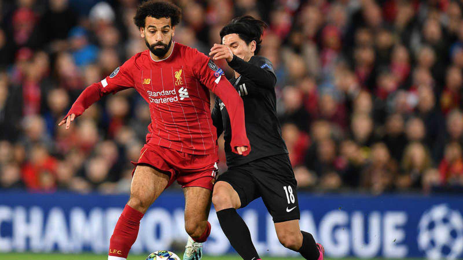 Salah, protagonista en el Liverpool-Salzgurgo.