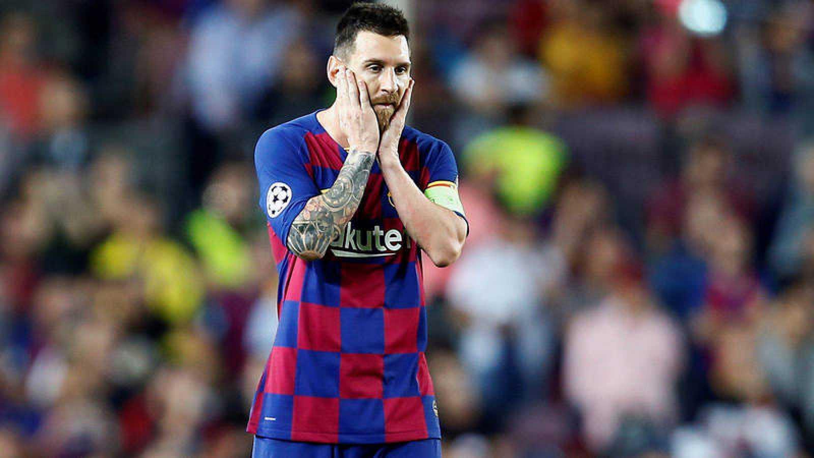 El delnatero del FC Barcelona Leo Messi, durante el partido ante el Inter.