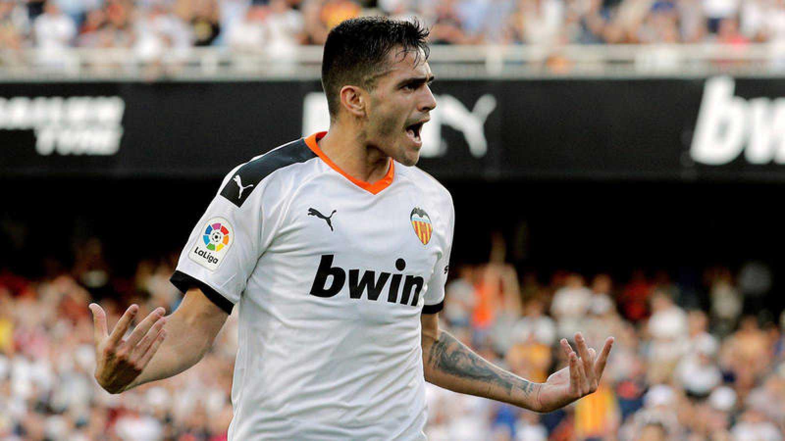Maxi Gómez celebra el gol marcado ante el Alavés
