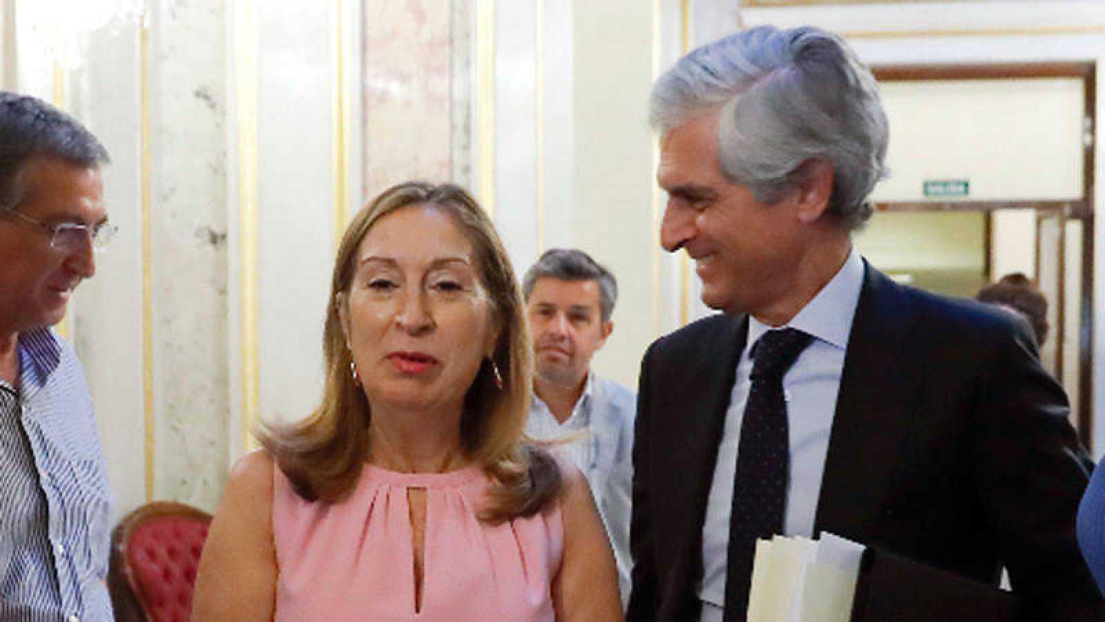 Ana Pastory Adolfo Suárez Illana en el Congreso de los Diputados
