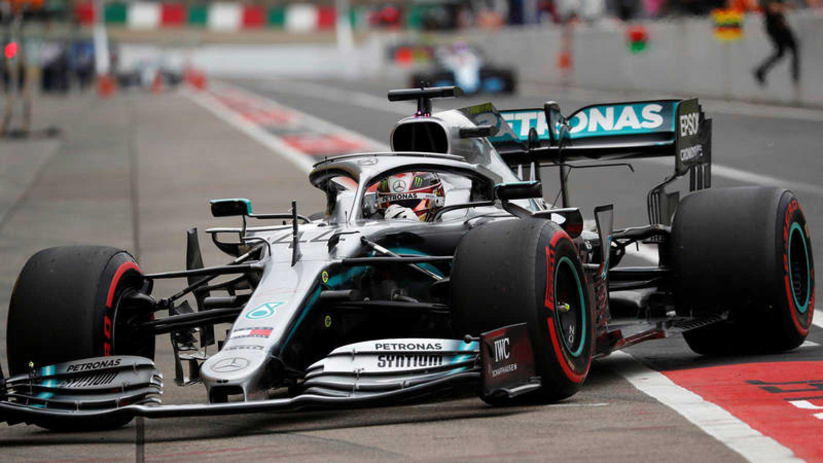 Lewis Hamilton, durante los entrenamientos en Suzuka.