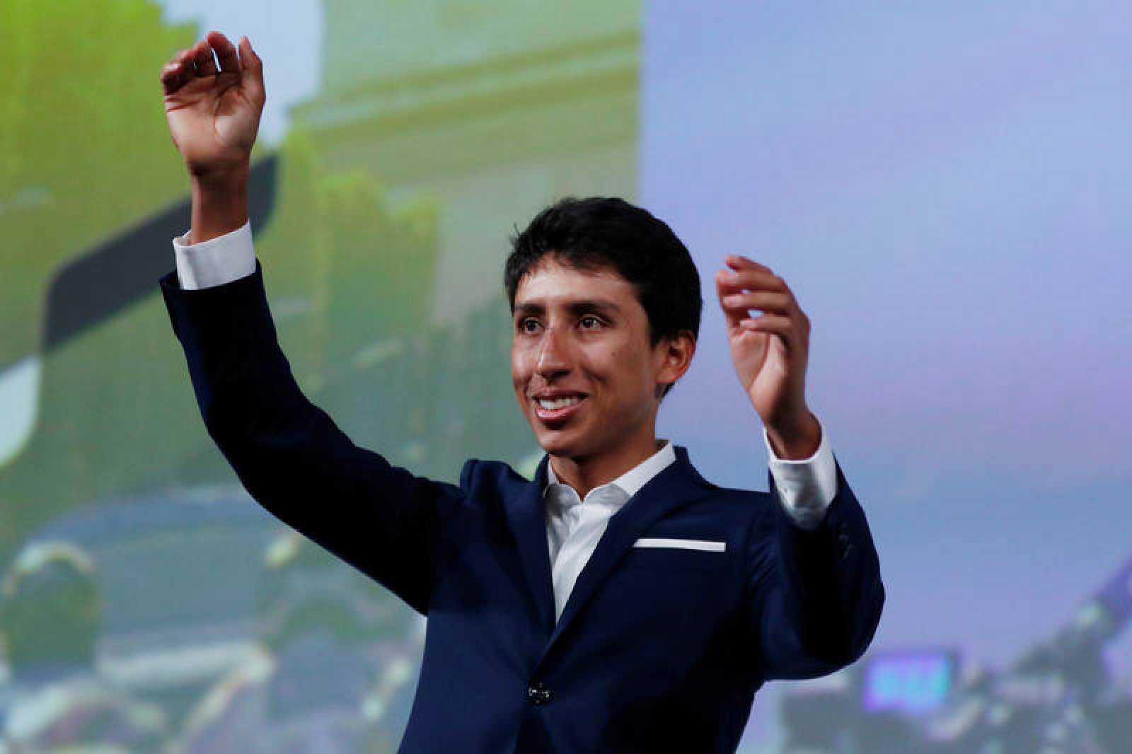 Egan Bernal en la presentación del Tour de Francia