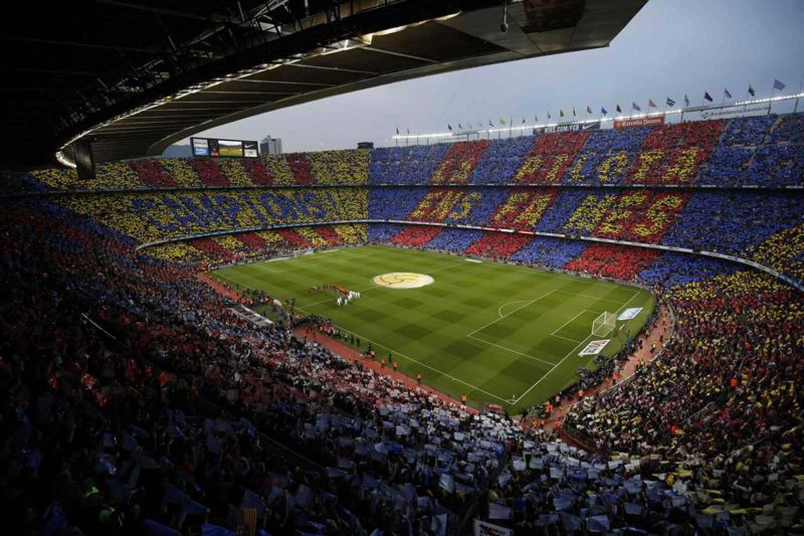 El Camp Nou en un Clásico de 2018