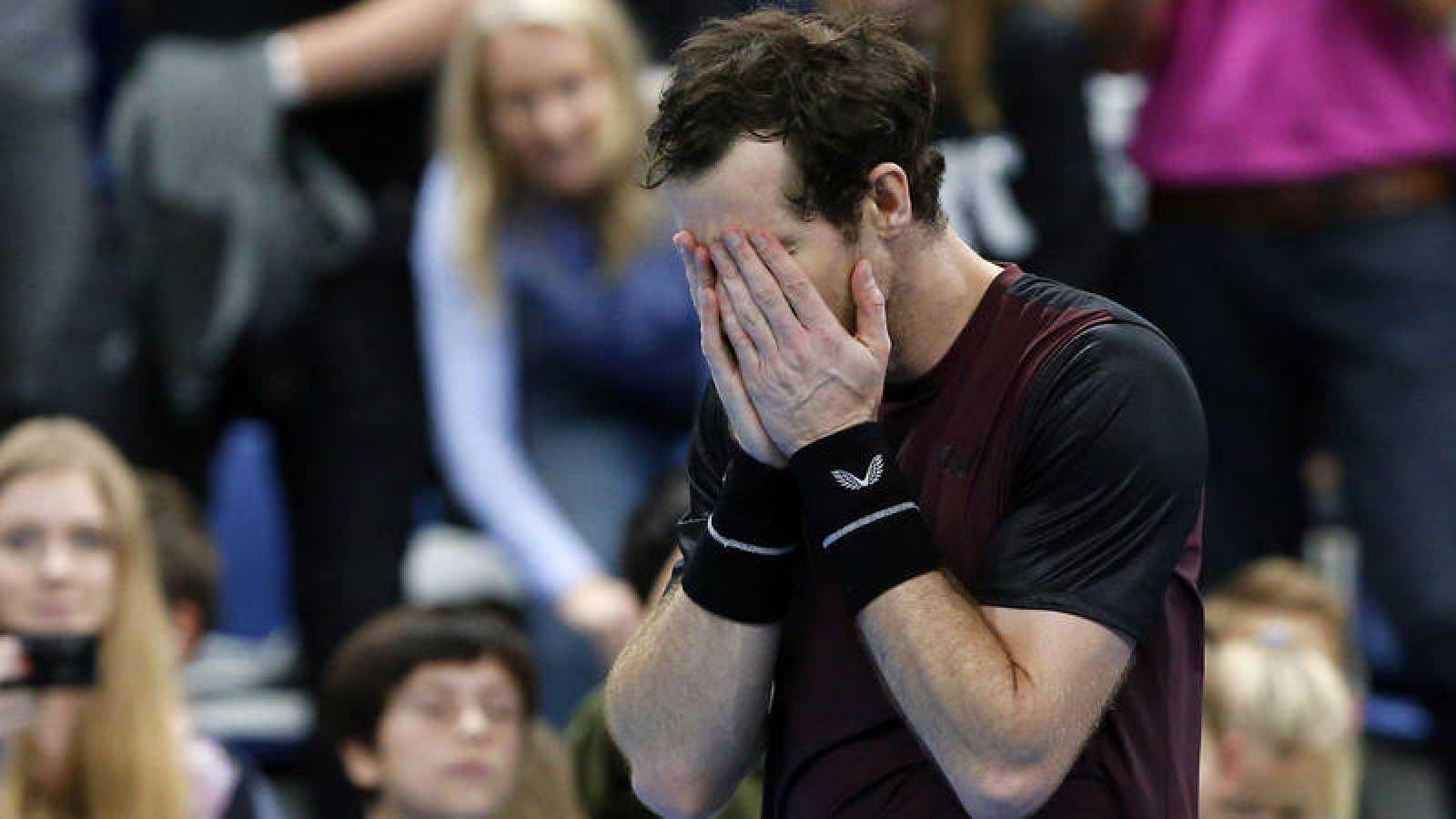 Andy Murray, emocionado tras su victoria en Amberes.