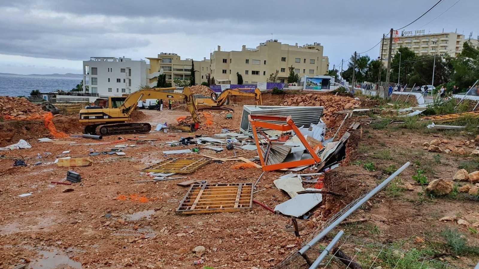 Efectos de un tornado causado por la DANA en Ibiza