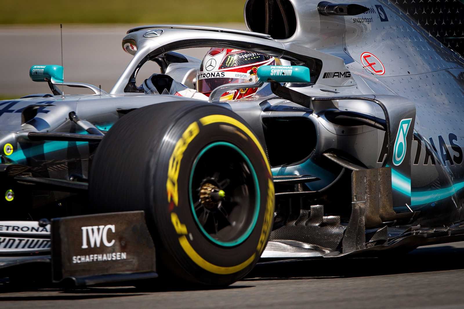 Imagen de archivo del piloto de Mercedes Lewis Hamilton durante una carrera.