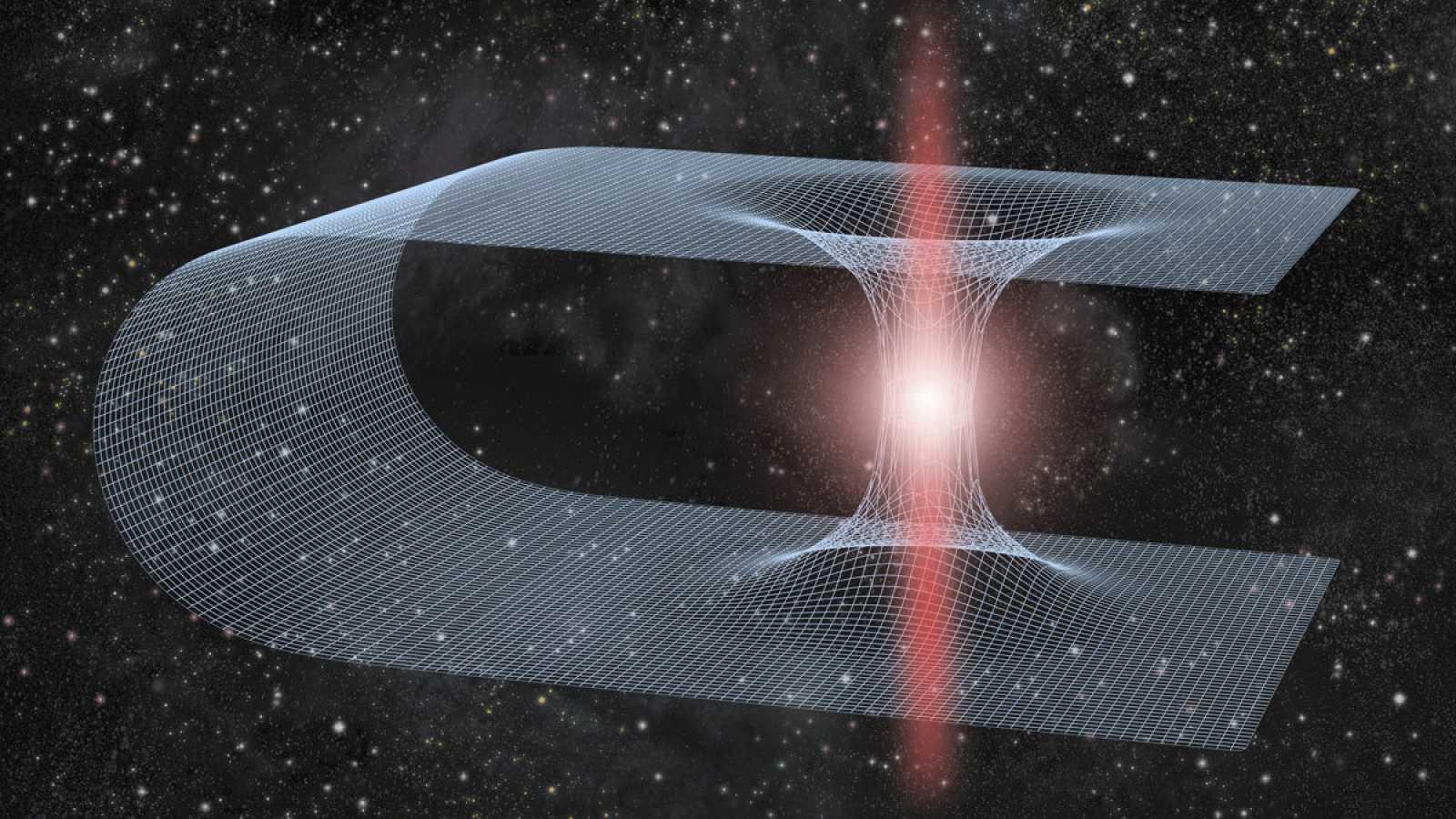 Los agujeros de gusano son supuestos pasadizos entre dos regiones separadas del espacio-tiempo, en el universo.