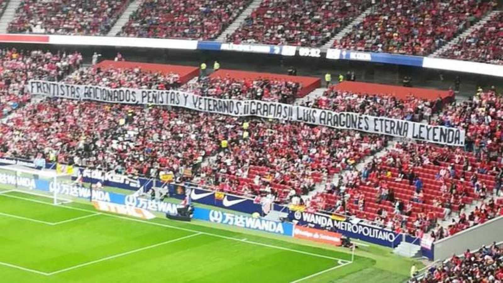 Pancarta Aragonés Atlético - Celta