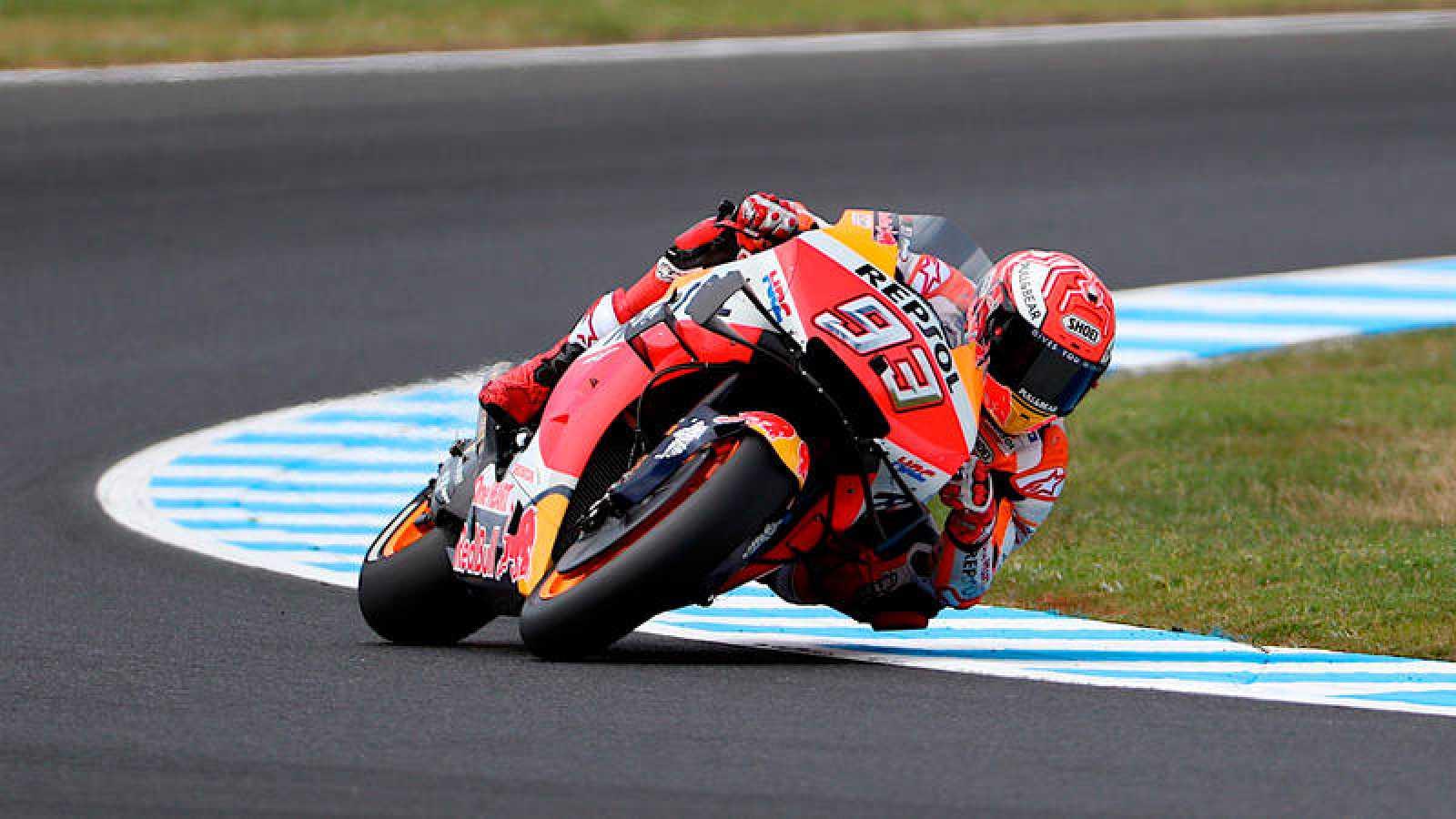Marc Márquez, en los entrenamientos del GP de Australia de MotoGP, en Phillip Island.