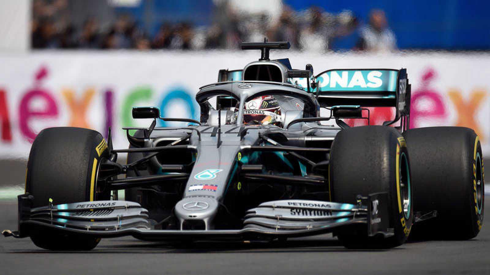 Lewis Hamilton, en el GP de México.