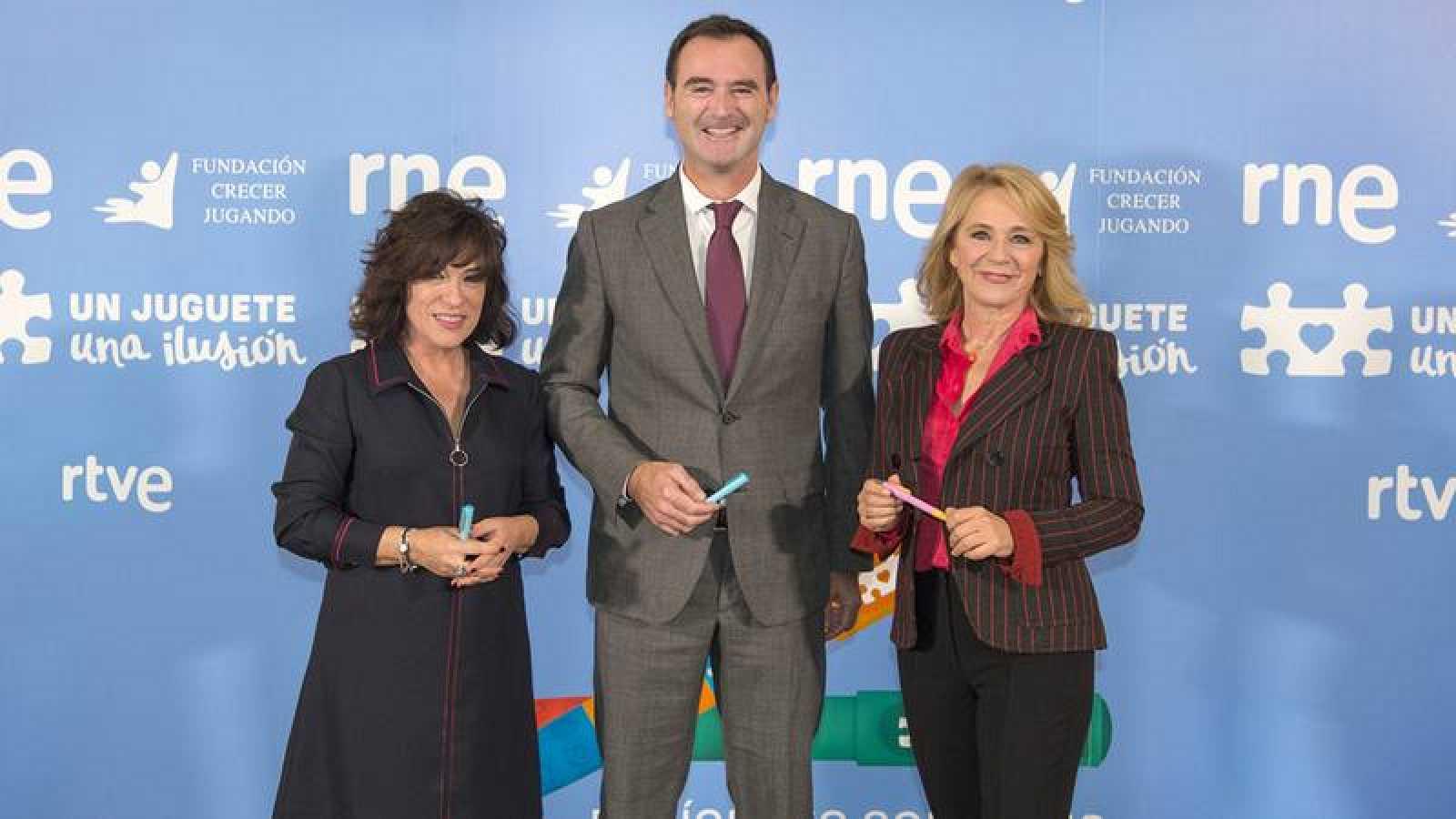 Paloma Zuriaga, José Antonio Pastor y Elena Sánchez Caballero