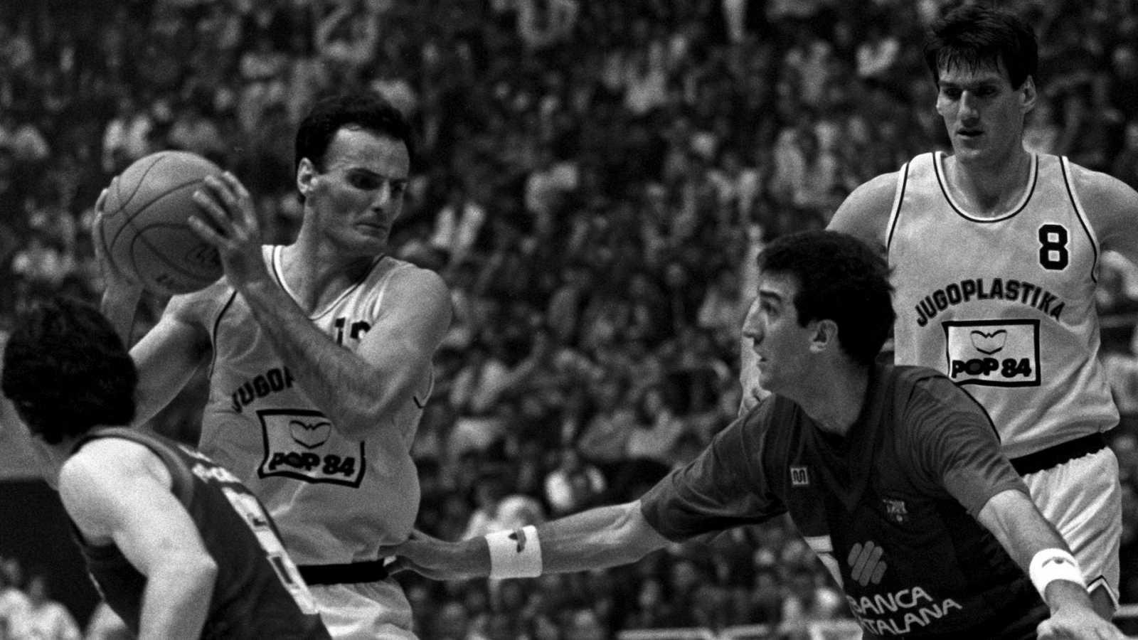 Imagen de archivo de un partido entre el Barcelona y la Jugoplastika