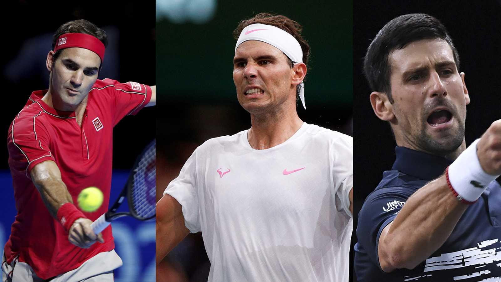 Roger Federer, Rafael Nadal y Novak Djokovic