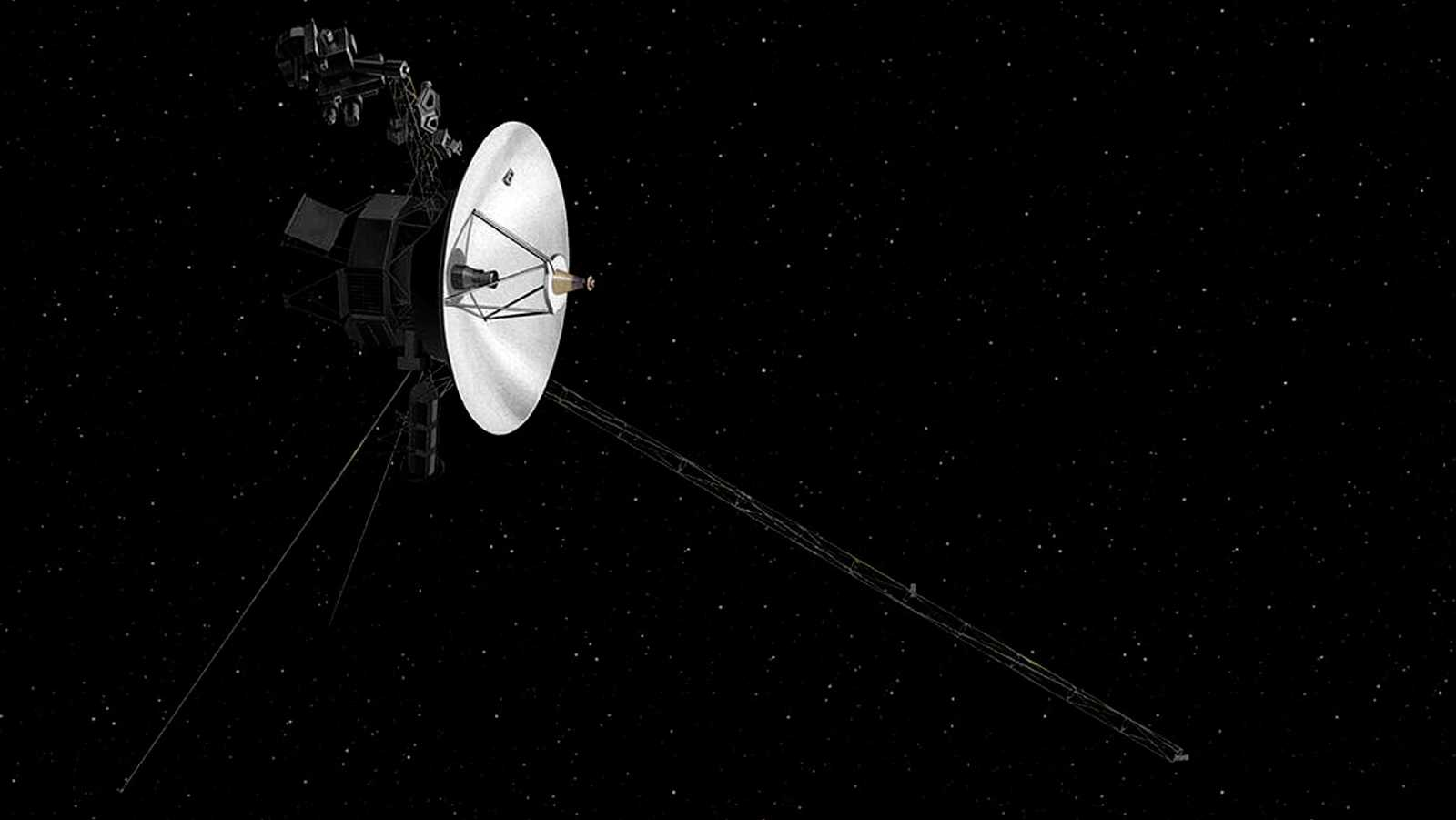 Representación de la nave Voyager 2, de la NASA.