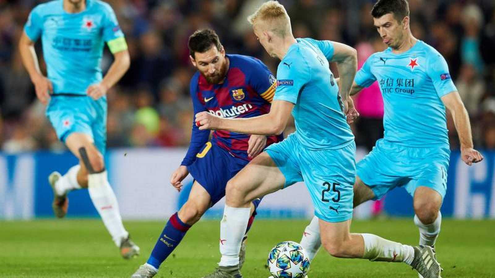 El Barça se atasca ante el Slavia de Praga