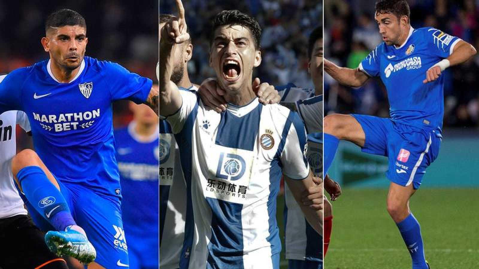 Sevilla, Espanyol y Getafe buscan dar un paso más en Europa