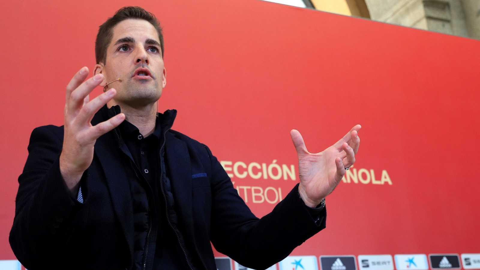 Rueda de prensa del seleccionador, Robert Moreno, en el Museo del Prado.