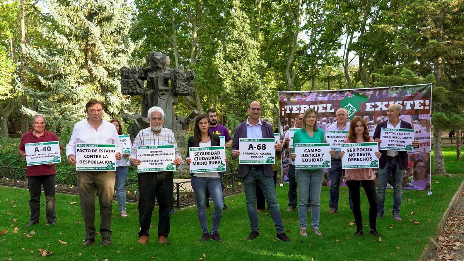 Los candidatos de Teruel Existe al 10N.