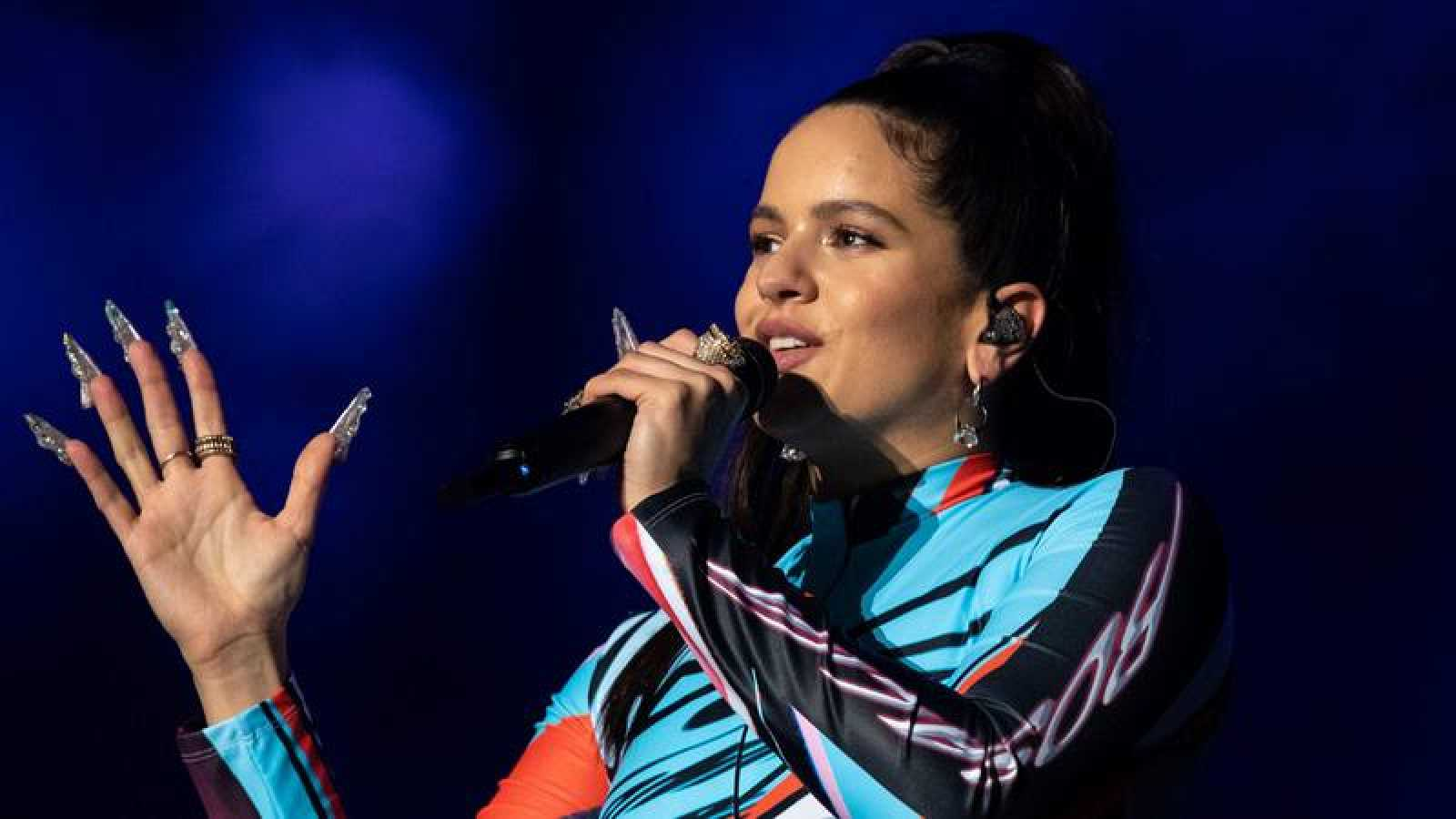 Rosalía durante el Astroworld Festival