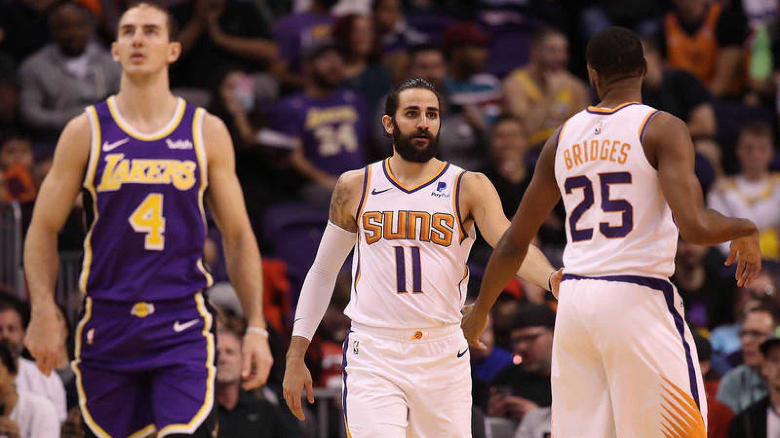 Ricky Rubio, en el partido contra los Lakers.