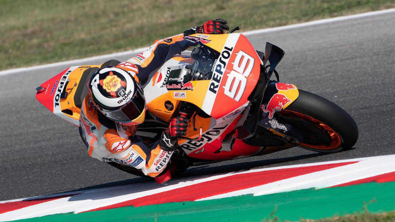 Jorge Lorenzo, con su Honda.