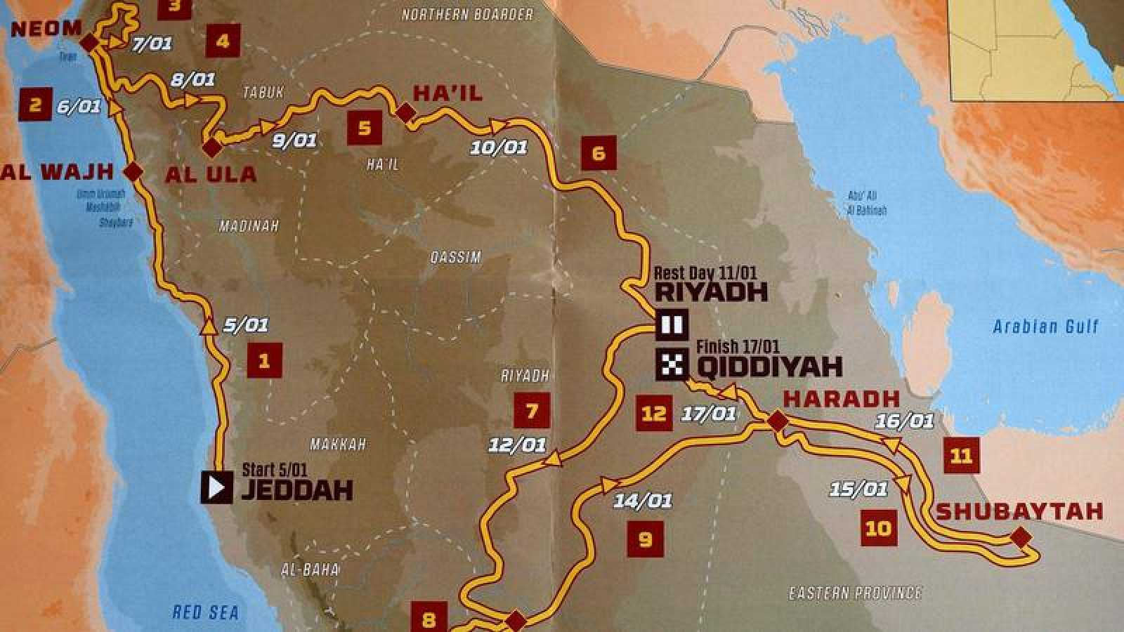 "El Dakar 2020 afronta un recorrido ""a la africana"" en Arabia Saudí"