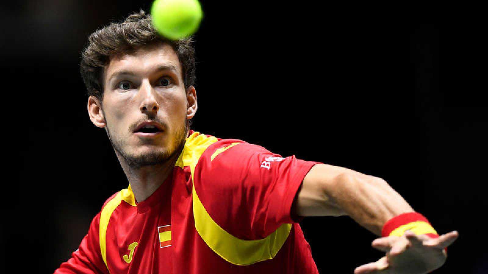 El tenista español Pablo Carreño, ante Guido Pella.