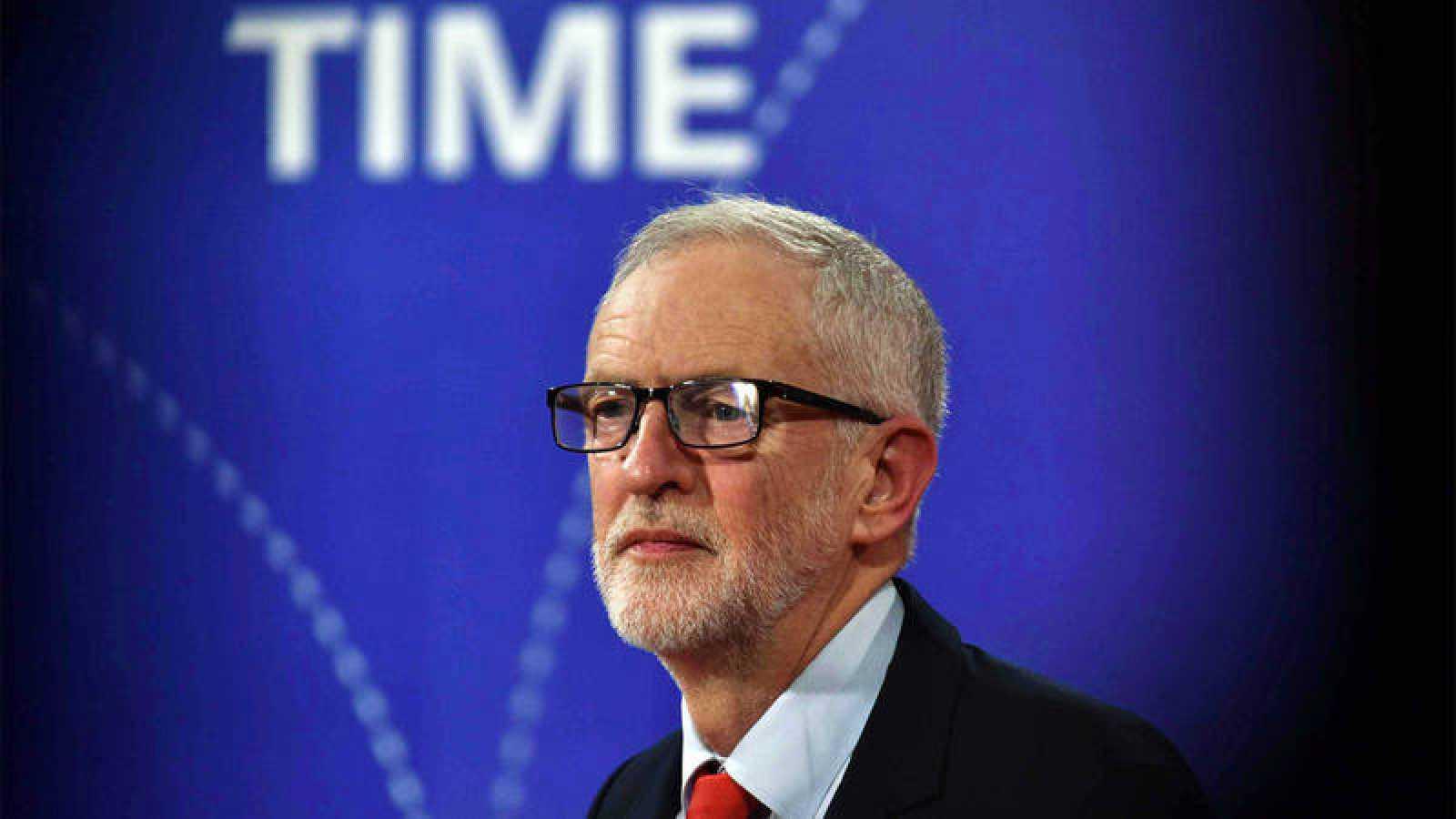 El líder del Partido Laborista, Jeremy Corbyn, en la BBC