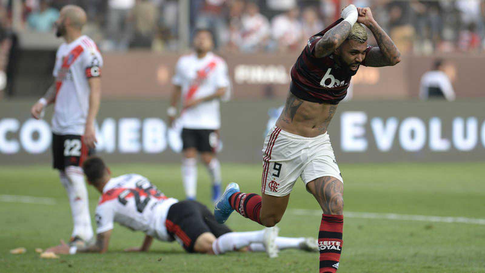'Gabigol', héroe del Flamengo con dos goles en la final de la Libertadores.